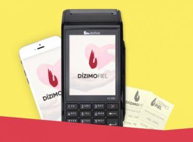 DízimoFiel: Máquina de cartão permite pagamento de dízimo no débito e no crédito