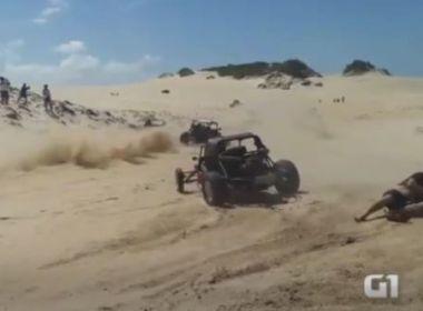 Homem morre depois de ser atropelado em corrida de buggy no Rio Grande do Norte