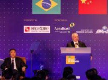 Na China, Temer diz que Brasil está voltando para 'trilho do desenvolvimento'