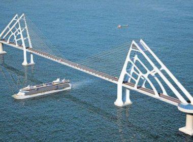 Ponte Salvador-Itaparica pode dar lugar a túnel na Baía de Todos-os-Santos, diz Rui