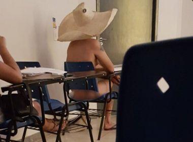 Aluno fica nu em sala de aula na UFG após discussão sobre arte