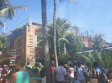 Incêndio atinge restaurante e pousada em Morro de São Paulo; veja vídeo