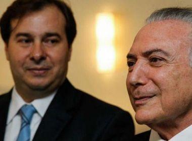 Planalto quer pacificar relação entre Maia e Temer para retomar pauta econômica