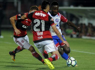 Oscilante na Ilha do Urubu, Bahia acaba goleado pelo Flamengo
