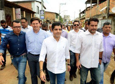 Em Valéria, prefeitura dá início a obra mais votada em consulta popular