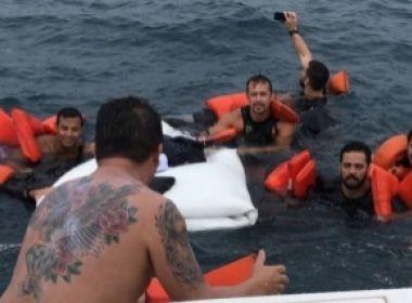 Embarcação particular com oito pessoas naufraga próximo a Morro de São Paulo