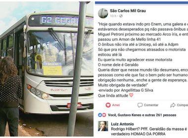Motorista de ônibus muda itinerário e ajuda estudantes a não se atrasarem para o Enem