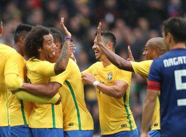 Brasil abre o placar com pênalti marcado por árbitro de vídeo e vence Japão