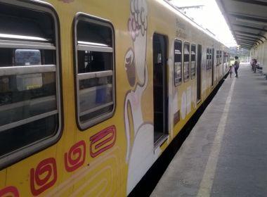 Cabo elétrico se desprende e trens do Subúrbio amanhecem parados em Salvador