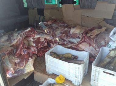 Mais de uma tonelada de carne irregular é apreendida durante operação na Bahia