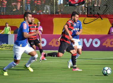 Vitória vacila, cede empate ao Cruzeiro e corre risco de entrar no Z4