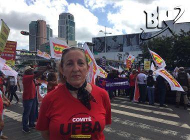 Em protesto, professora da Ufba destaca riscos à universidade gratuita