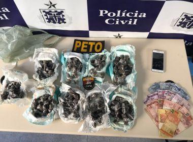 Homem é preso com 266 trouxas de maconha em fraldas descartáveis