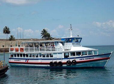 Travessia Salvador-Mar Grande será encerrada às 17h30 neste domingo, devido à maré baixa