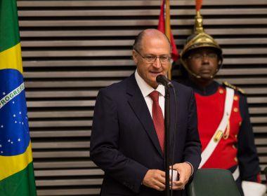 Alckmin conversa com DEM, PTB e PP e sinaliza que pode ceder vaga da vice
