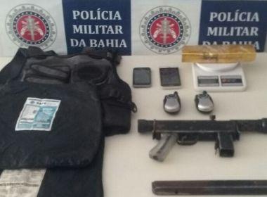 Porto Seguro: Adolescente é apreendido com submetralhadora de uso das Forças Armadas