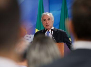 Temer vai discutir 'conjuntura econômica e política do Brasil' em fórum na Suíça