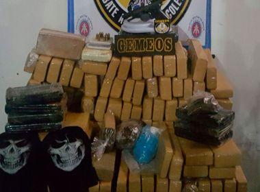 Homem é preso com 300 kg de drogas após roubar pistola de PM em assalto a ônibus