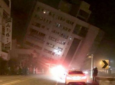 Hotel desaba após terremoto de 6,4 graus atingir costa leste de Taiwan