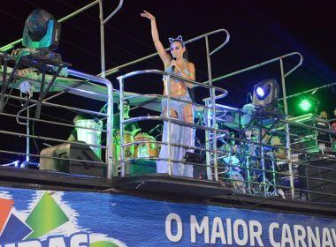 Alinne Rosa e Babado Novo animam terceiro dia de Carnaval em Barreiras