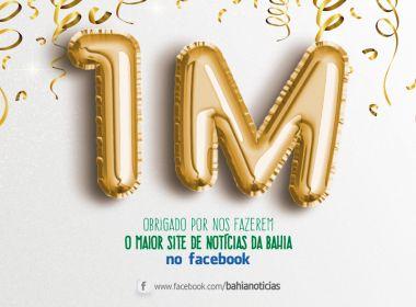 Bahia Notícias é o 1º site de notícias baiano a atingir 1 milhão de curtidas no Facebook