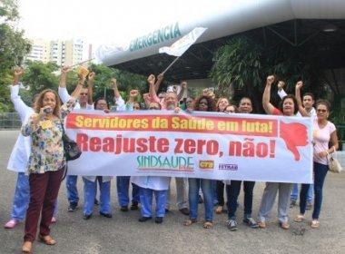 Em manifestação, servidores da saúde aderem à paralisação do funcionalismo público estadual