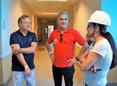 Sesab vistoria obras do Hospital da Criança, em Feira de Santana; unidade vai ganhar 80 leitos