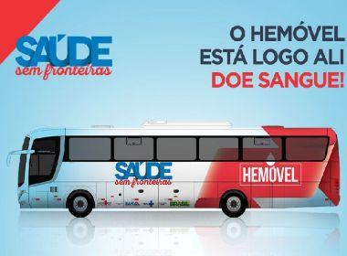 Unidades móveis da Hemoba atendem em Salvador, Simões Filho, Feira e Jequié