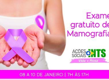 INTS oferece exames de mamografia gratuitos a moradoras do Bairro da Paz
