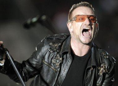 Bono Vox cai de bicicleta, machuca braço e passa por cirurgia