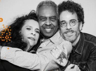 Com Gil, Gal e Nando Reis, turnê 'Trinca de Ases' confirma passagem por Salvador