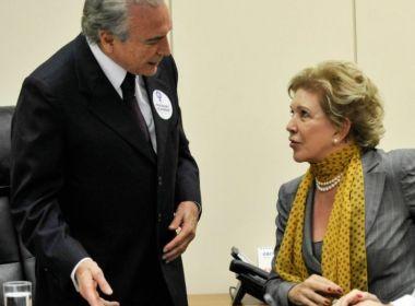 Temer pretende insistir para que Marta Suplicy assuma Ministério da Cultura, diz jornal