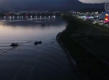 Com drone, segurança flagra passageiros tentando entrar no Rock in Rio de barco