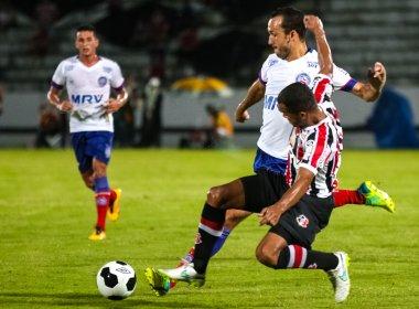 Em jogo de quatro gols, Santa Cruz e Bahia empatam no estádio do Arruda