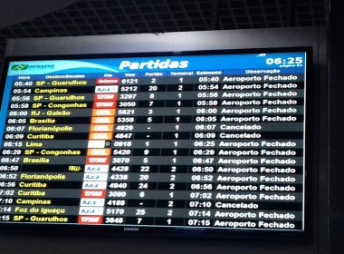 Neblina fecha aeroporto de Porto Alegre e atrasa retorno do Bahia para Salvador