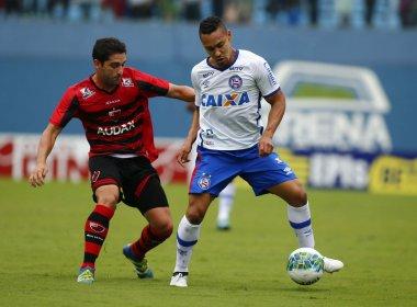 Em jogo com tempos distintos, Bahia empata com Oeste e perde chance de entrar no G-4