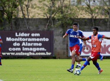 Antes de viagem para Curitiba, parte do grupo do Bahia treina no Fazendão