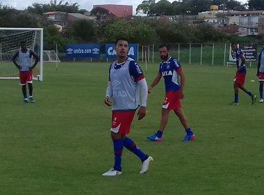 Com Edigar Junio e Allione, 'grupo B' do Bahia treina focado na parte técnica