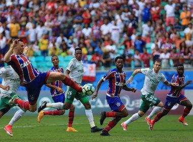 Tiago reconhece má atuação do Bahia na derrota para o Palmeiras: 'Erramos muito'