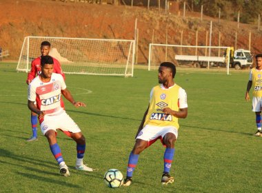 Em treino único, Bahia encerra preparação para duelo contra a Chapecoense