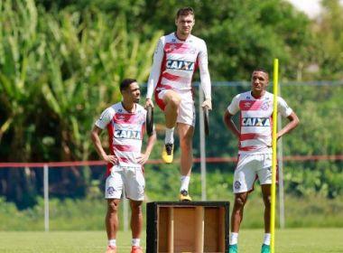 No 1º período, Bahia realiza treino físico-técnico no Fazendão