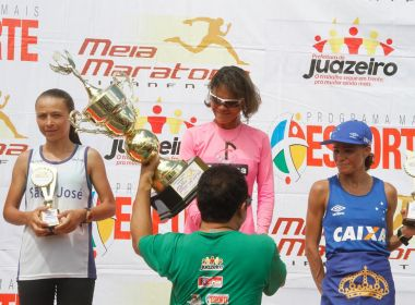 Marily dos Santos e José Márcio vencem Meia Maratona Tiradentes em Juazeiro