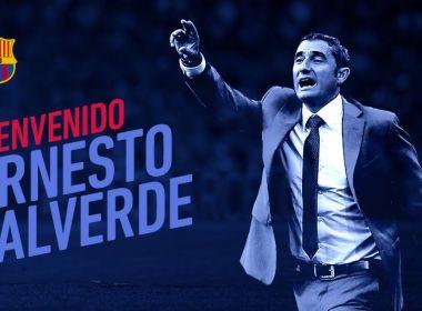 Barcelona anuncia contratação do técnico Ernesto Valverde