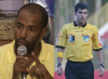 Na Série B do Baiano, presidente do Teixeira critica Diego Pombo: 'Fez lambanças aqui'