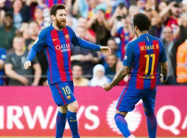 Messi faz postagem nas redes sociais se despedindo de Neymar
