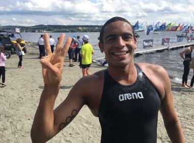 Allan do Carmo já está na China para prova da Copa do Mundo de Maratonas Aquáticas