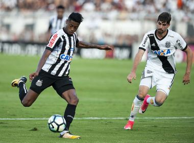 Bruno Henrique sente dores musculares e é dúvida do Santos para duelo com o Vitória