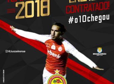 Juazeirense anuncia contratação de Enercino para a temporada de 2018