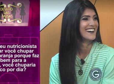 Goiás repudia perguntas eróticas de programa esportivo à musa do clube