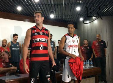 Vitória apresenta novo uniforme da equipe de basquete